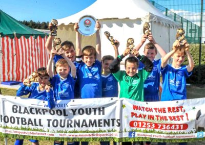 Blackpool Youth Football Tournaments plate winners