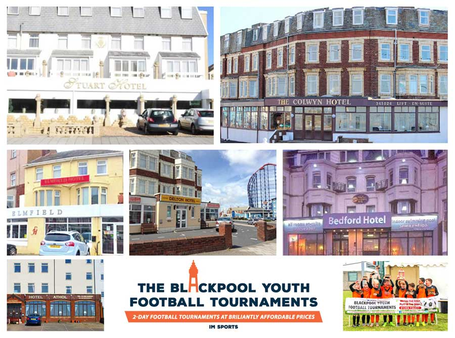 Blackpool Youth Football Tournaments recommended hotels