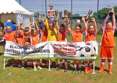 Tournament winners girls U9s