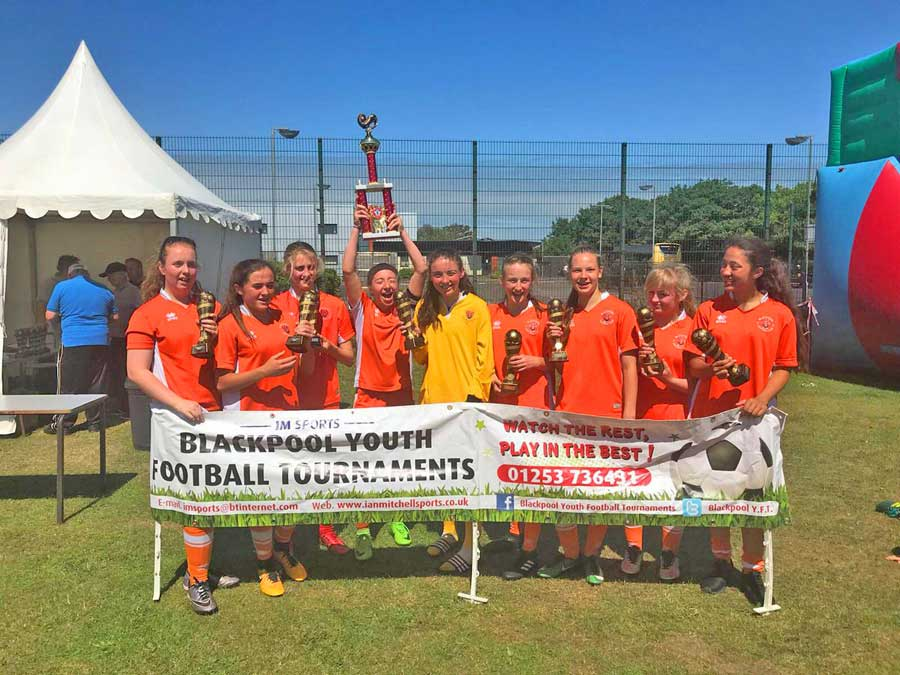 Blackpool Youth Football Tournament winners