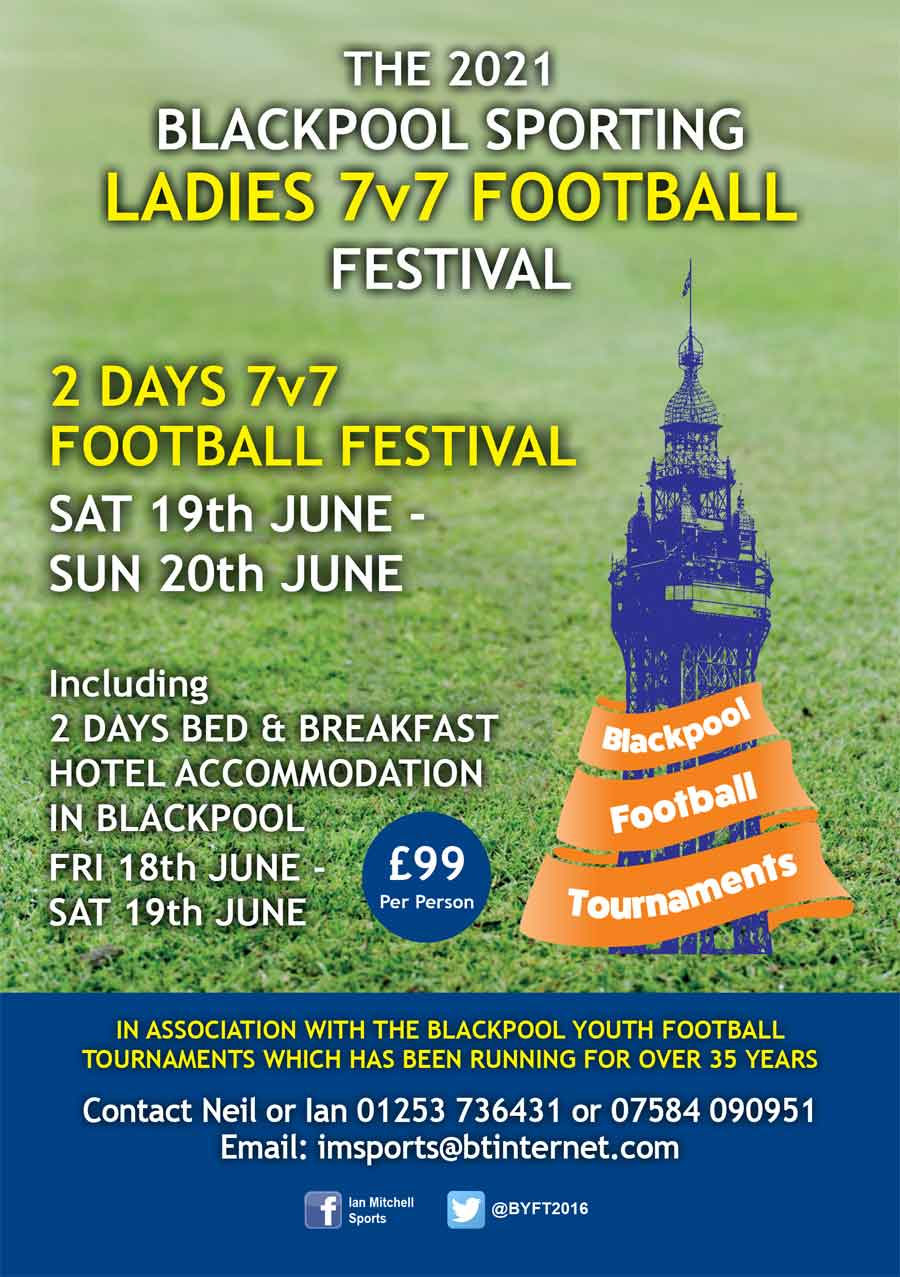 Booking Form for Ladies 7-A-Side Football Festival 2021 - Blackpool Adult Football Tournaments