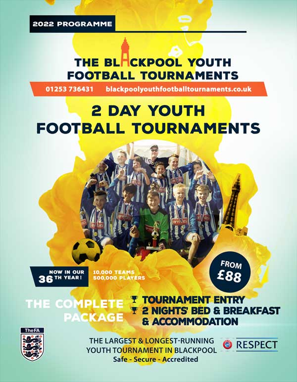 The Blackpool Youth Football Tournaments poster